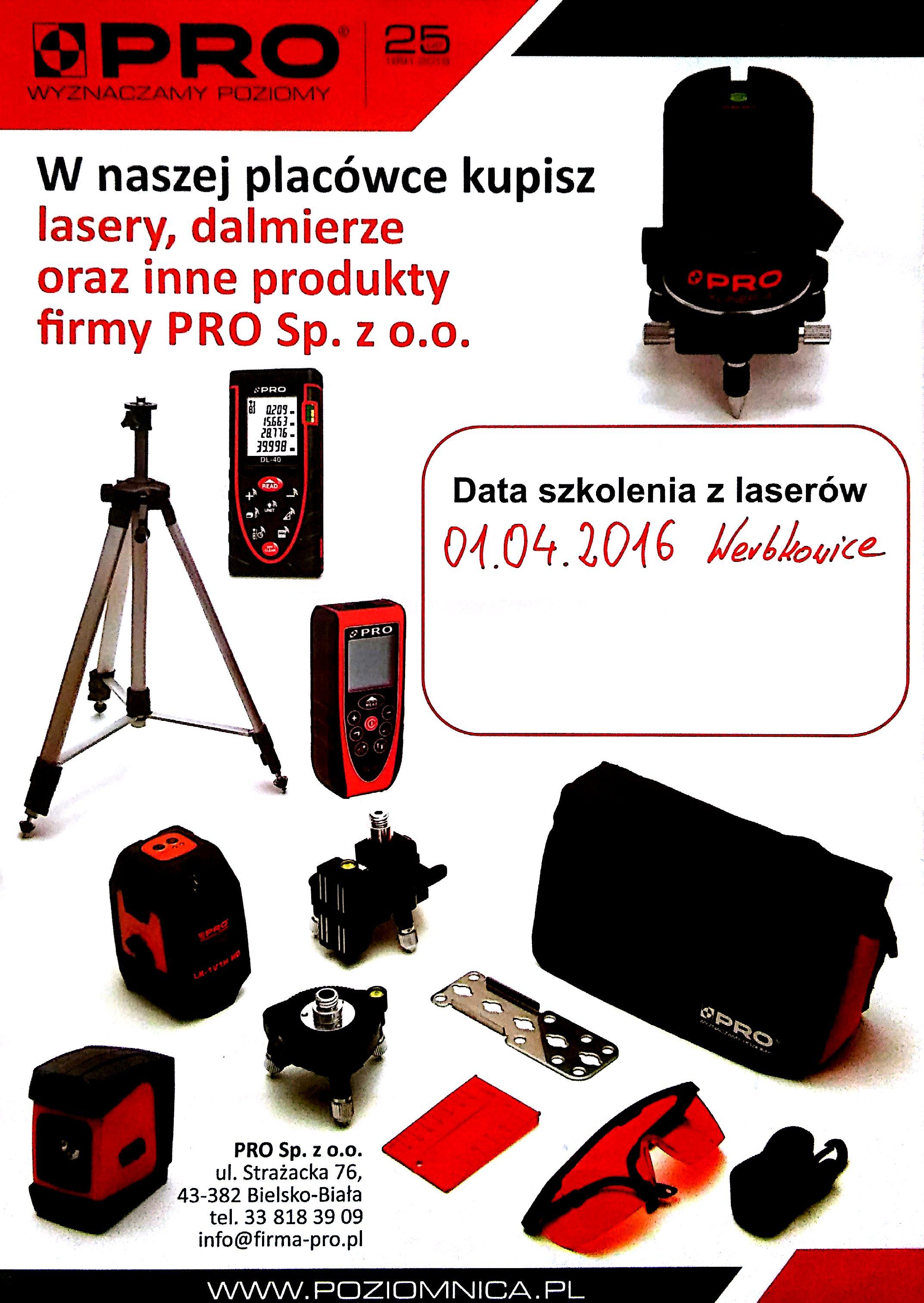 Szkolenie z laserów PRO